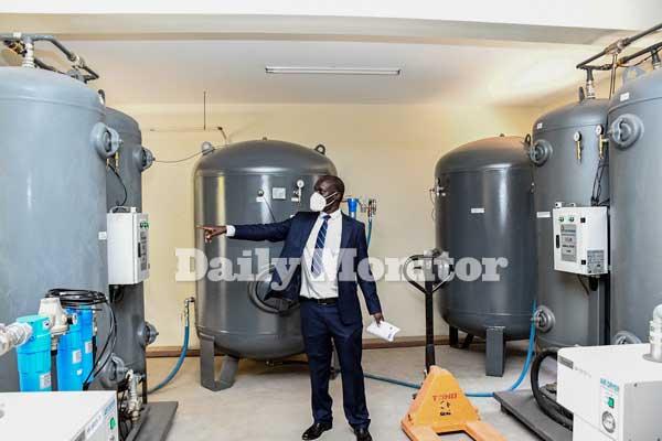 Mulago Oxygen tanks